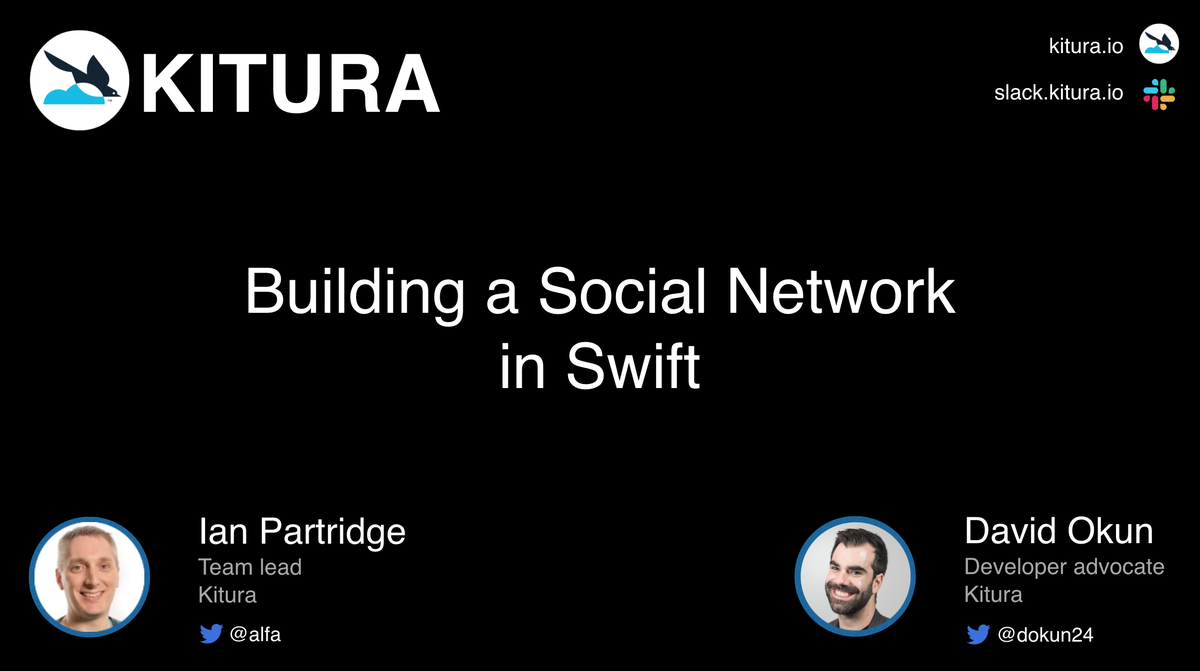 a social network in Swift